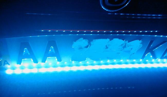 Подсветка номера из светодиодов
