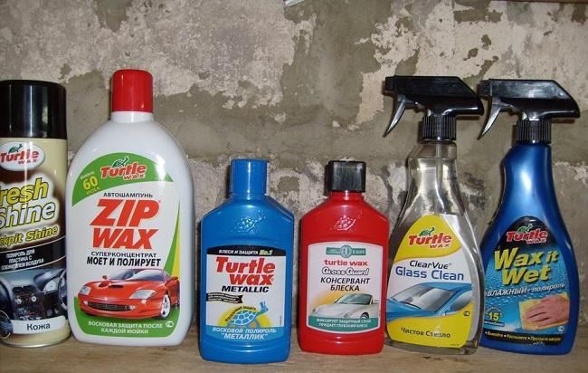 Различные полироли для автомобиля