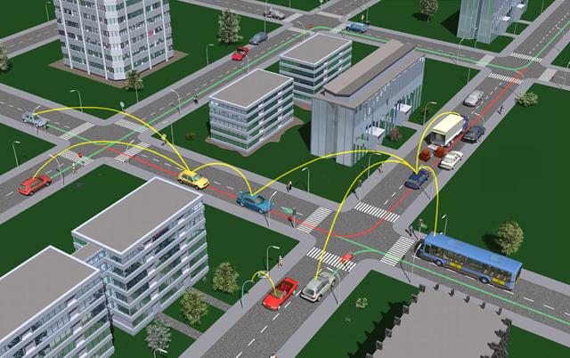 Система Car to car communication предупреждает об опасности