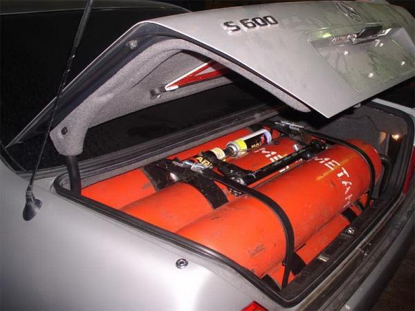 Очень часто ГБО занимает весь багажник