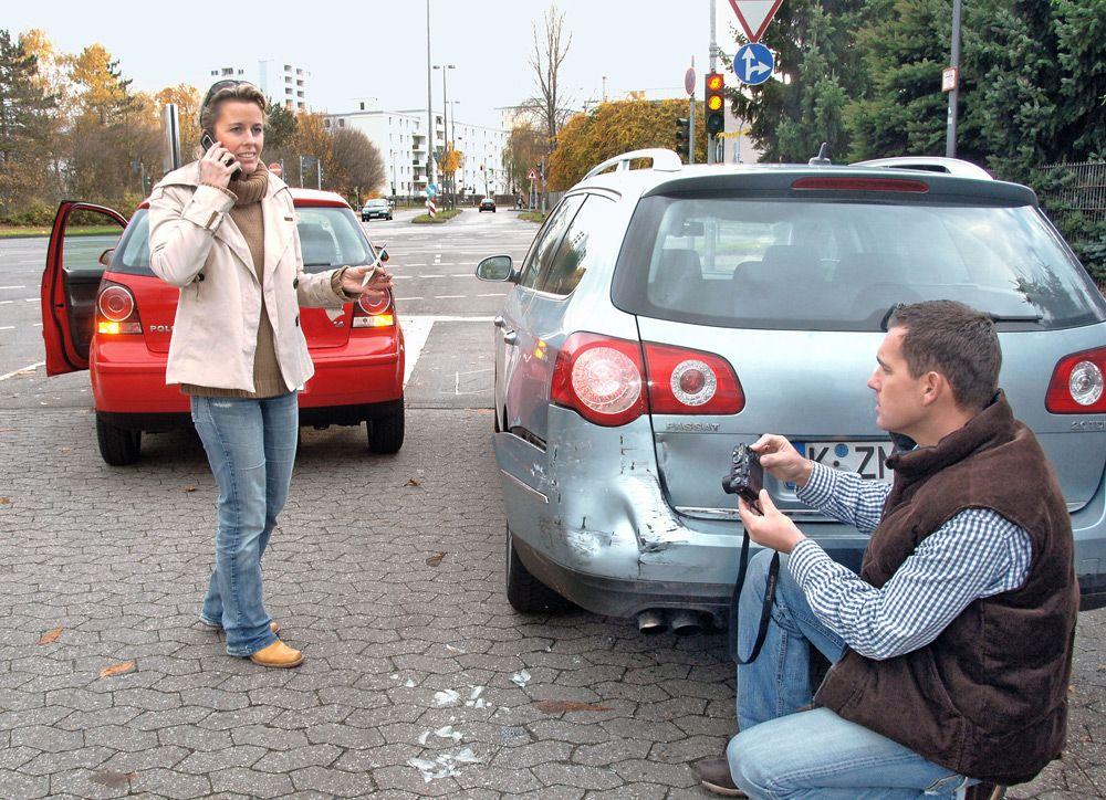 Съёмка аварии на фотоаппарат