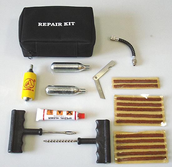 Состав набора для ремонта бескамерных шин