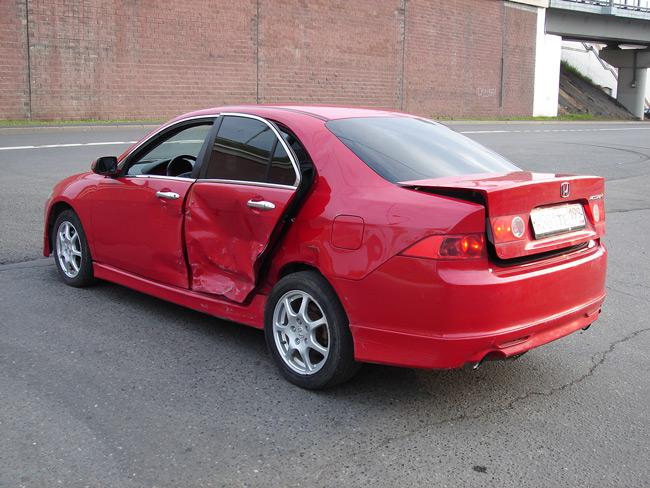 Пример битой машины