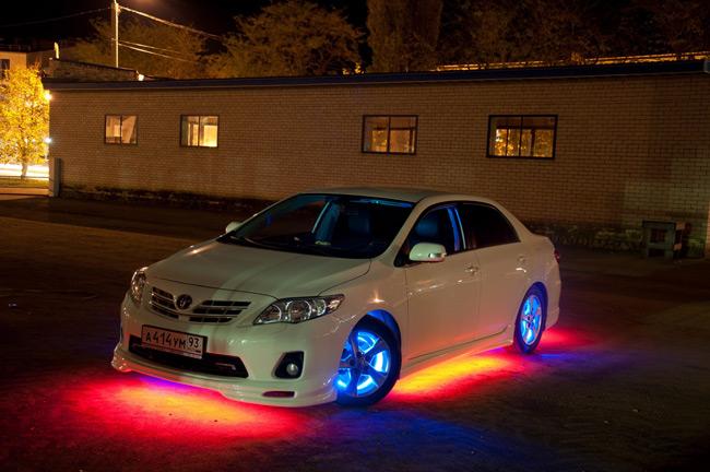 Подсветка авто смотрится очень стильно