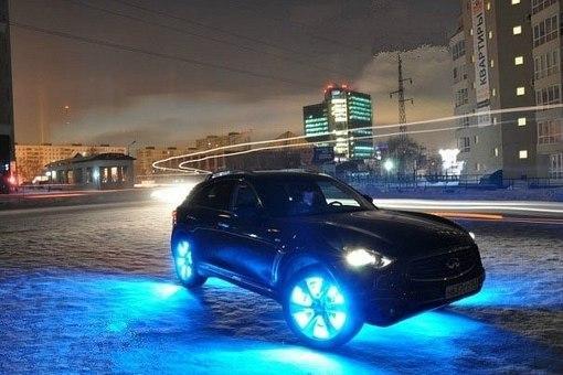 В моде подсветка колёс автомобиля