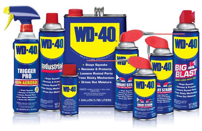 Спрей WD-40 для смачивания ржавой гайки