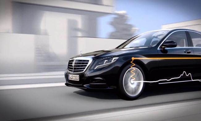 Системой Magic Body Control  оснащаются автомобили Мерседес S-класса
