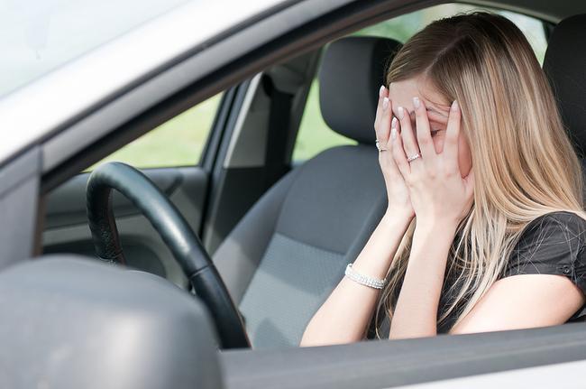 Страх вождения часто бывает у женщин