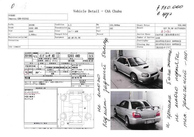 По аукционному листу можно понять был ли автомобиль в ремонте