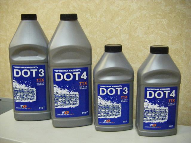 Тормозная жидкость должна соответствовать определённым параметрам