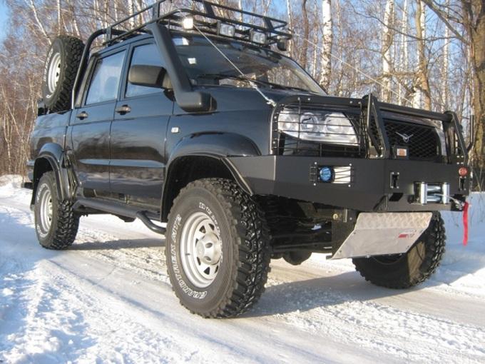 УАЗ Патриот с защитой двигателя