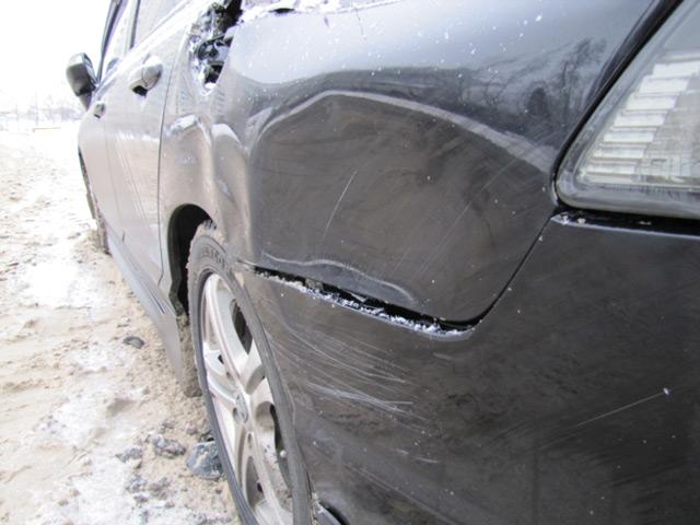 Деформация кузова вследствие аварии