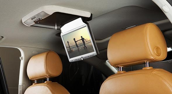 Потолочный монитор - это отличный вариант для длительных поездок