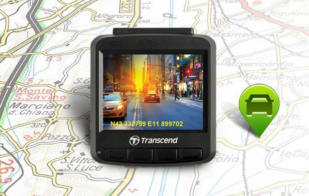 ВидеорегистраторDrivePro 220 оснащён модулем GPS