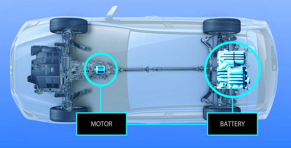 Электромотор интегрирован в трансмиссию