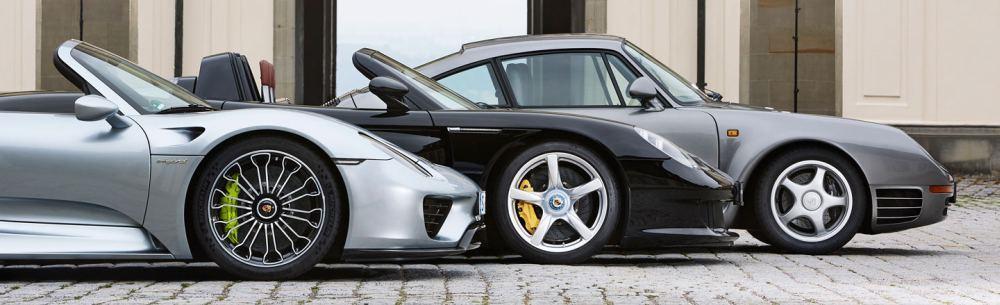 Porsche 918 Spyder, Carrera GT и 959-й — три поколения топ-моделей немецкого производителя