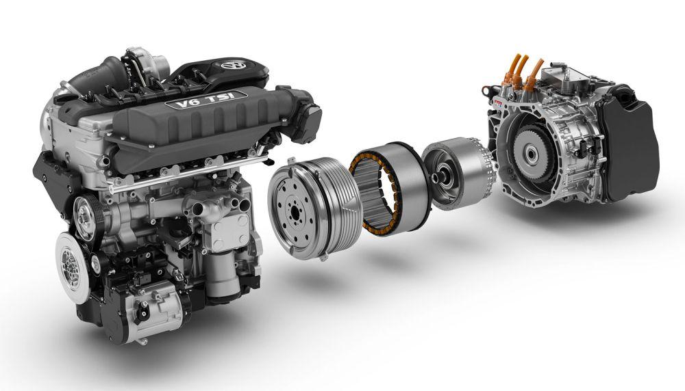 Силовой агрегат концепт-кара (ДВС плюс электродвигатель)