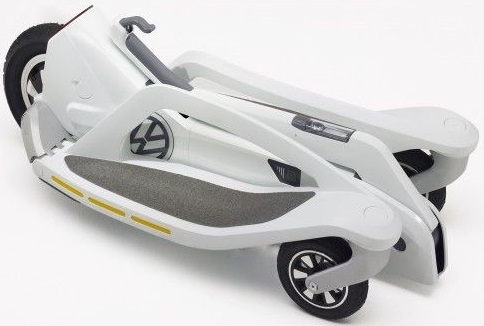 Электрический скутер на трёх колёсах от Фольксваген