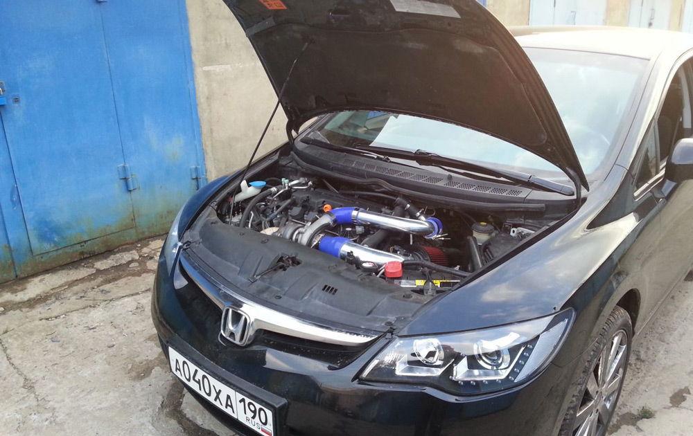 Автомобиль с модернизированным двигателем