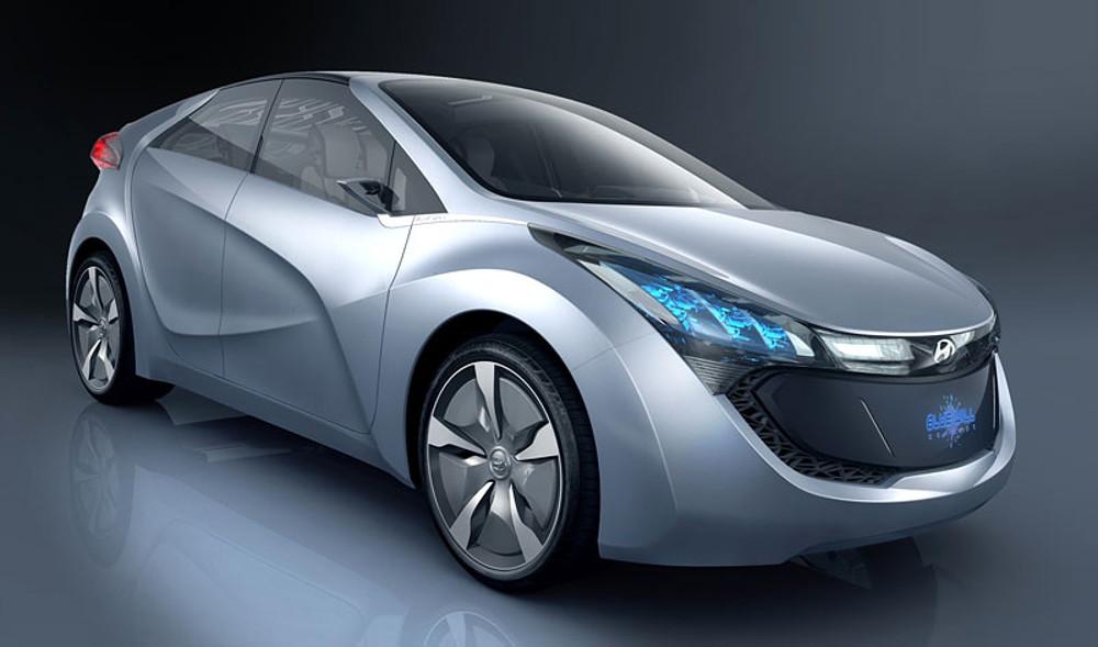 Дизайн кузова остаётся неизвестным, впрочем, Hyundai с 2009 года разрабатывал концепт гибрид-кара Blue Will