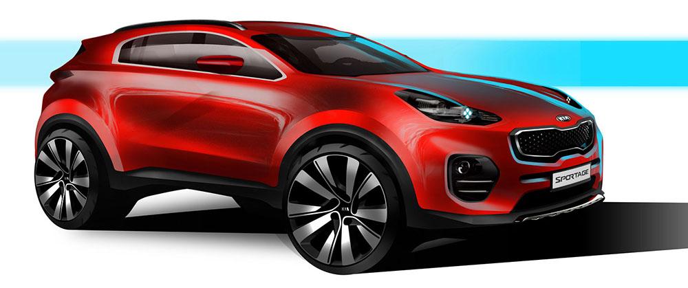 Эскиз нового поколения Kia Sportage