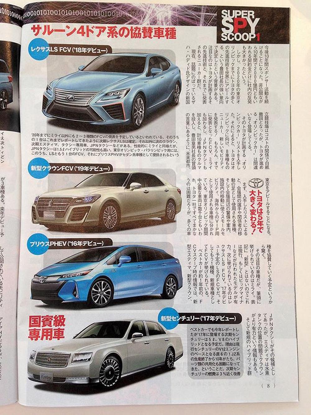 Журнал Best Car опубликовал информацию о планах Toyota