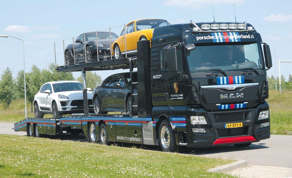 MAN оборудованы всеми необходимыми приспособлениями для перевозки подобных грузов