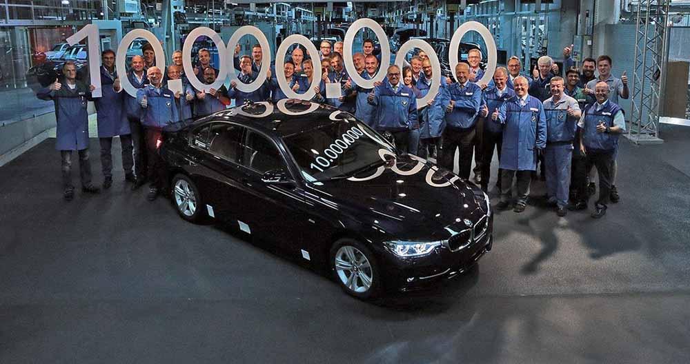 Сошёл с конвейера завода в Мюнхене 10-миллионный седан серии 3