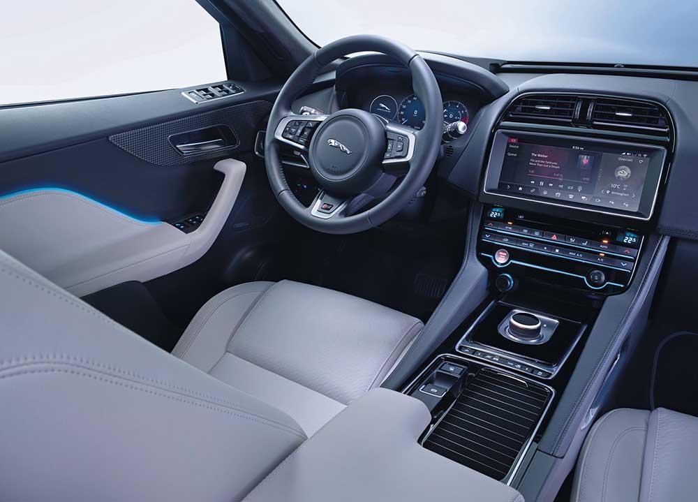 Оснащение автомобиля Jaguar F-Pace на высшем уровне