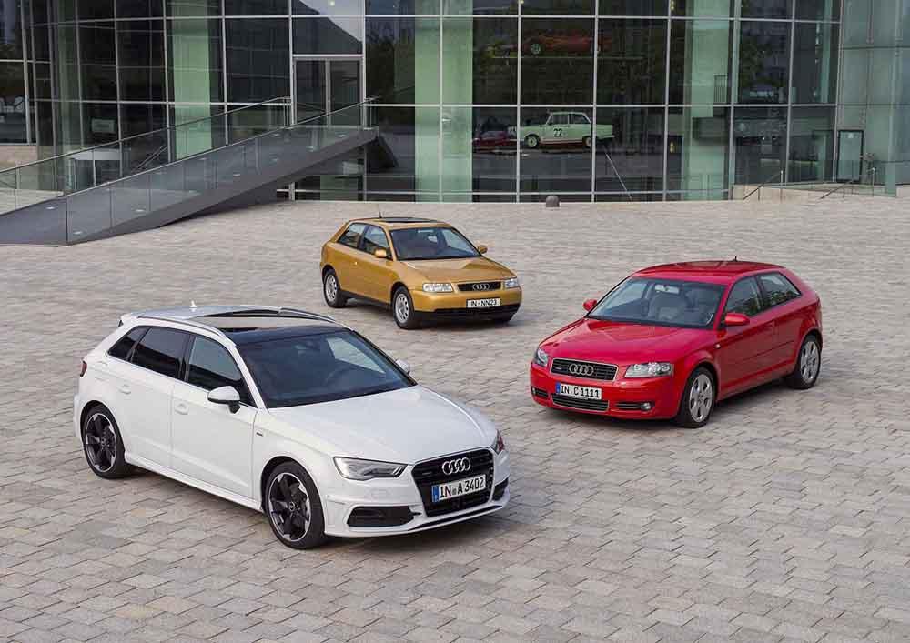 Три поколения модели Audi A3