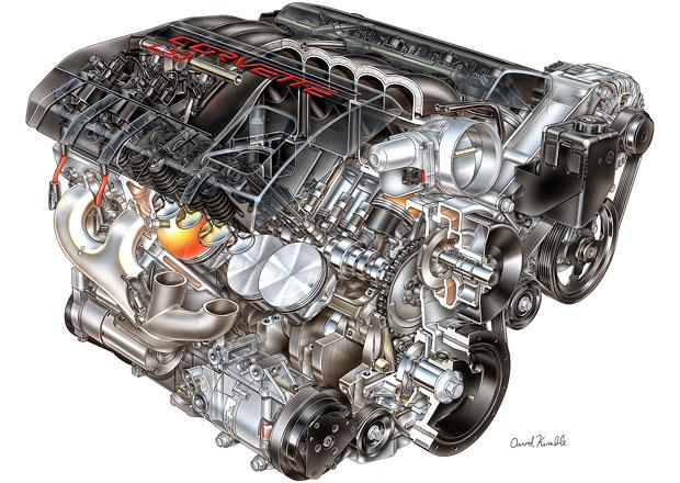 Восьмицилиндровый V-образный мотор
