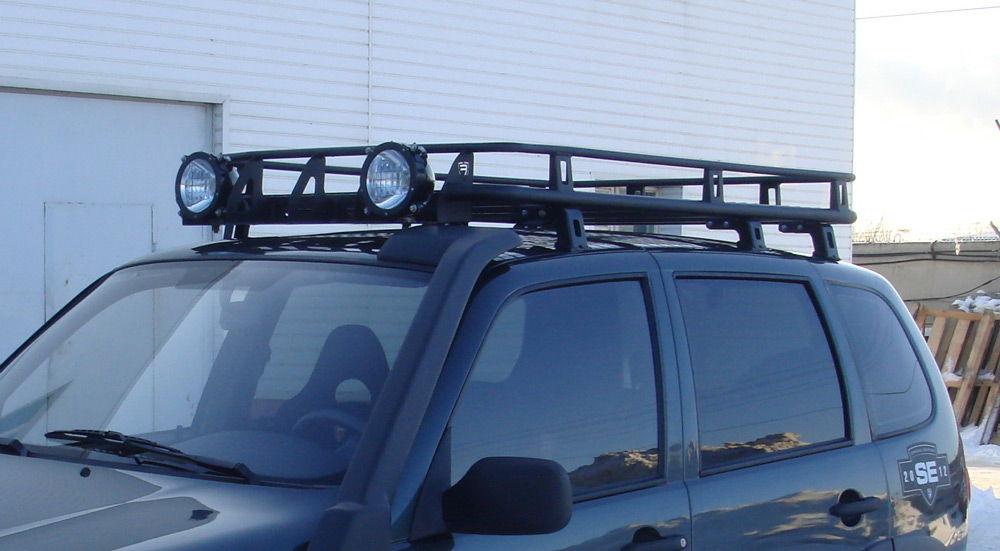 Экспедиционный багажник с фонарями