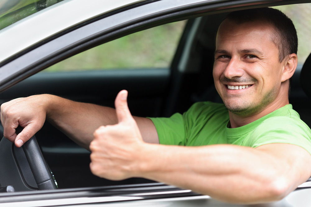 Мужчина за рулём