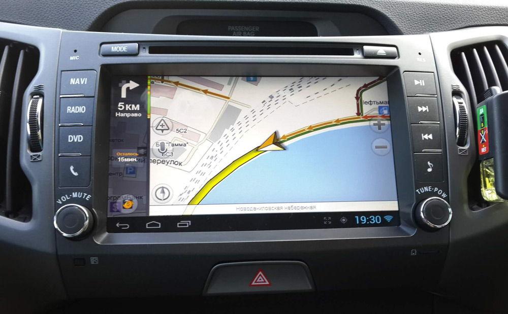 Использование навигационного приложения