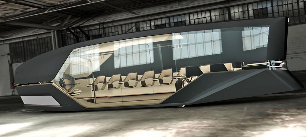 Преобладающее остекление общественного транспорта из недалёкого будущего