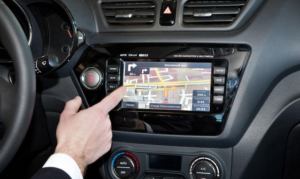 Использование навигатора в автомобиле