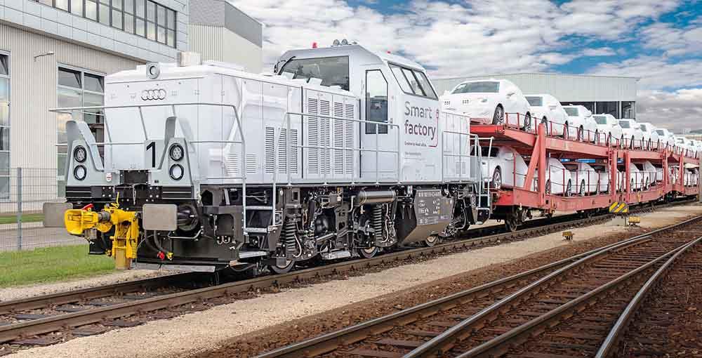 Audi использует поезда для транспортирования вагонов с готовыми авто