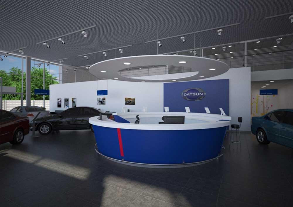 Один из вновь открывшихся салонов Datsun в Новосибирске