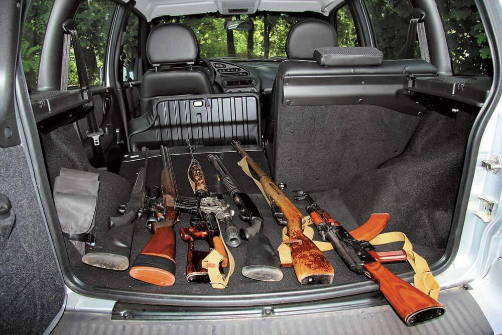 Перевозка оружия в багажнике