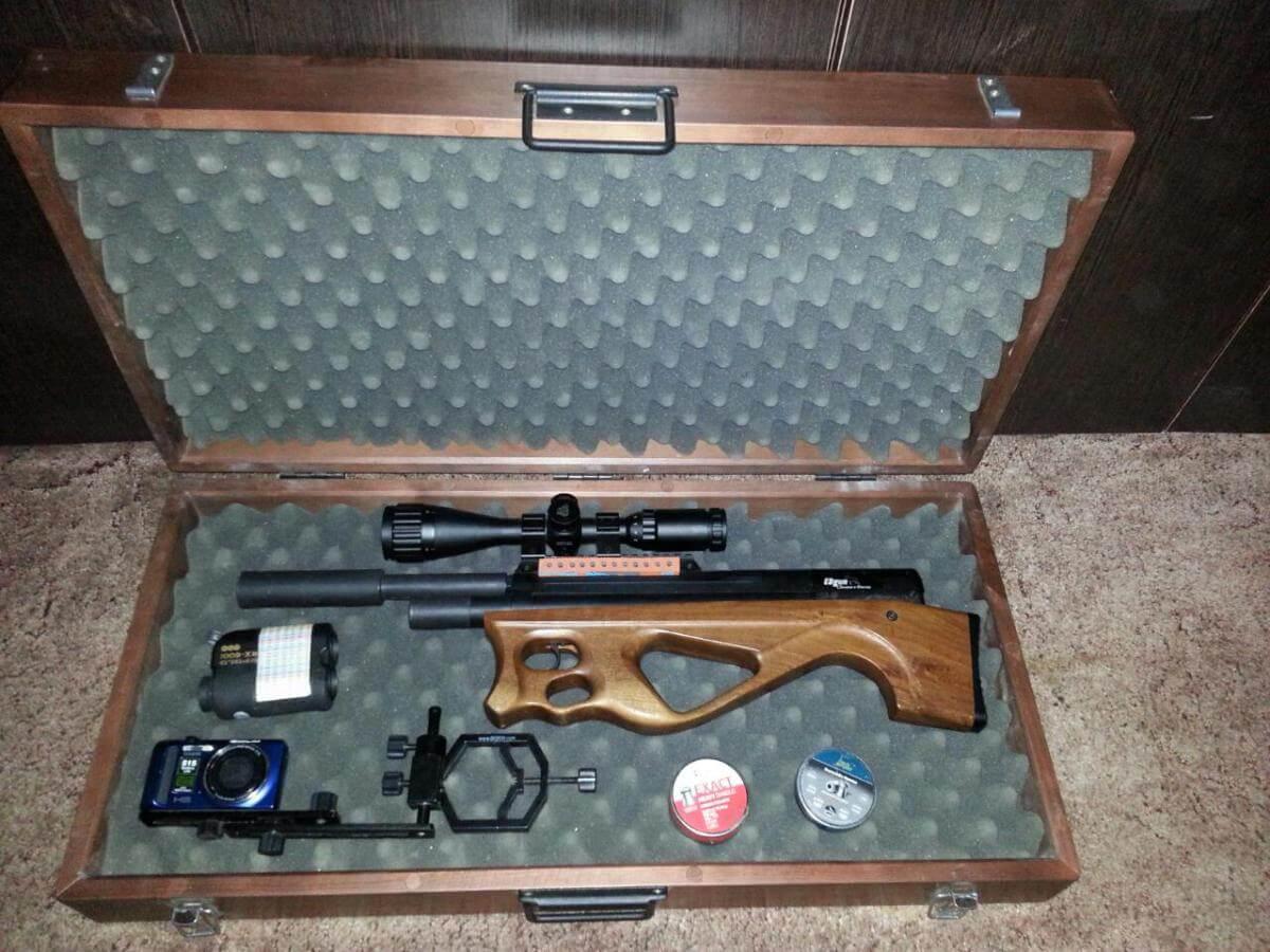 Пневматическая винтовка в кейсе