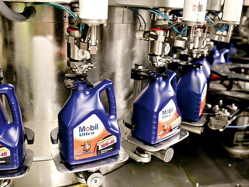 Производство масла Mobil