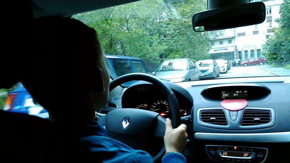 Ребёнок за рулём