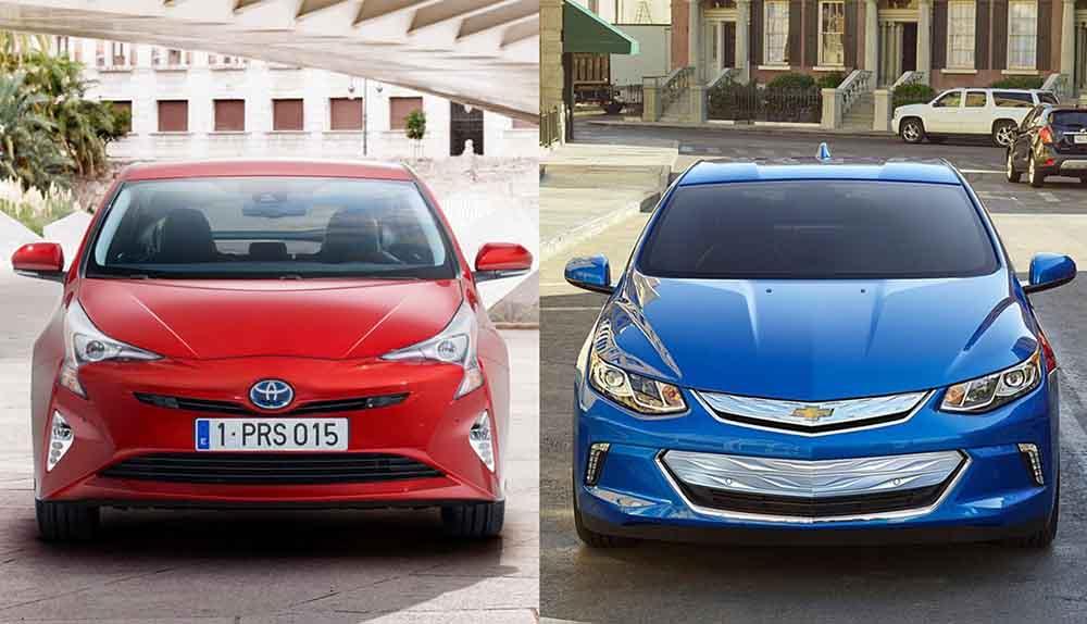 Chevrolet Volt и Toyota Prius
