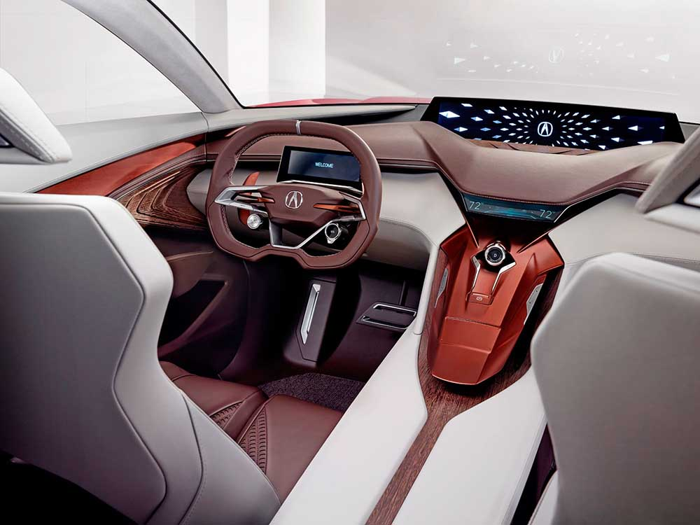 Дизайн передней панели нового седана