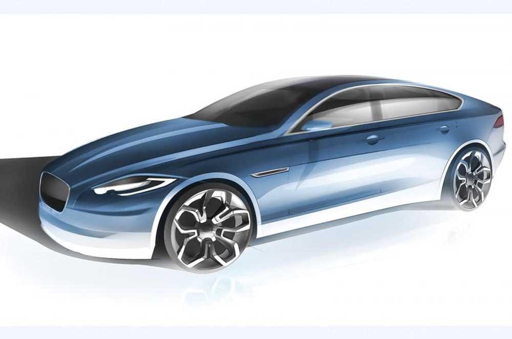 Эскиз Jaguar XJ