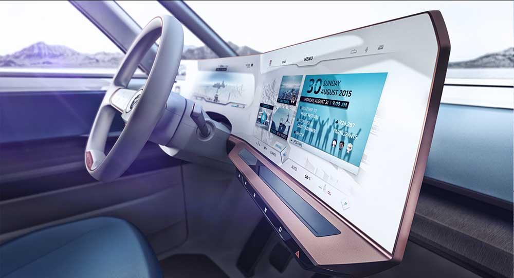 Цифровая приборная панель Volkswagen Budd-e