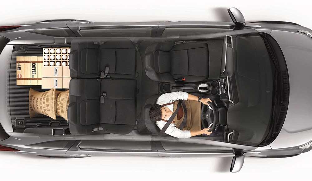 Пятиместная комплектация обладает большим багажным отделением