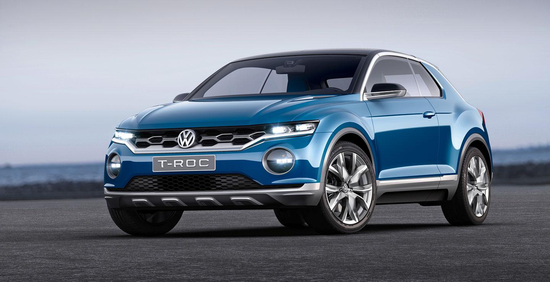 VW Т-Roc на базе Golf немного меньше машин своего класса