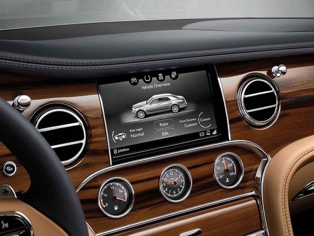 Передняя панель Bentley Mulsanne тоже изменилась