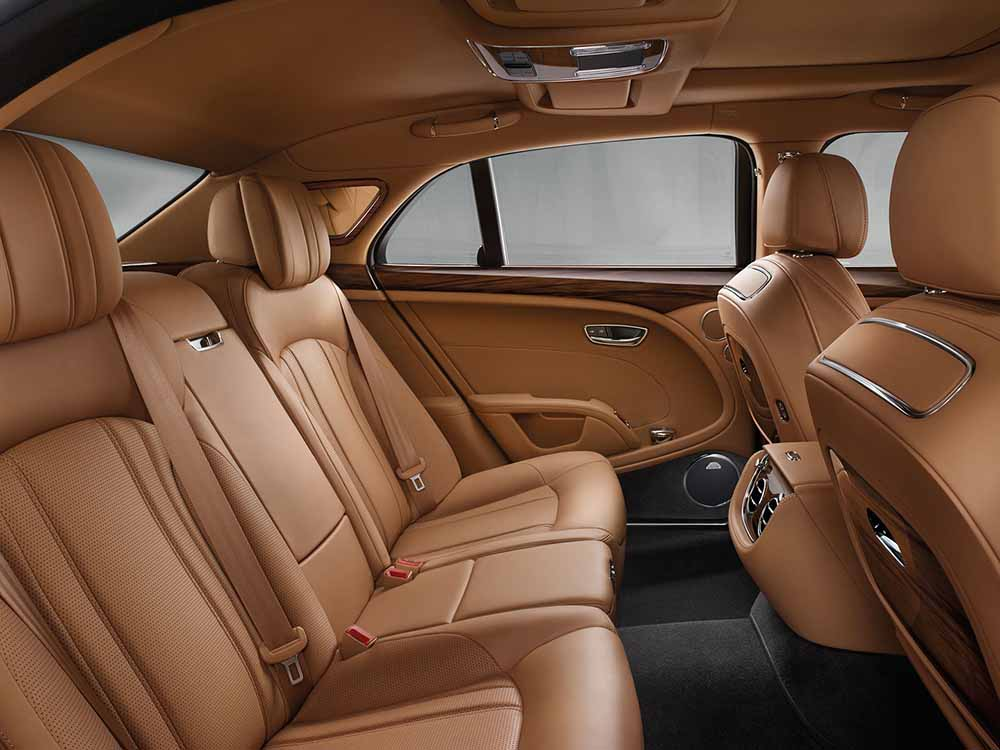 Роскошная отделка салона Bentley Mulsanne
